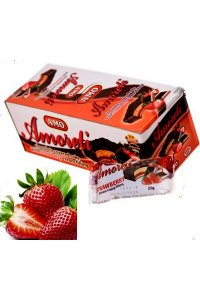 Mini Cake strawberry glazed 25g,24pcs./box