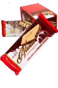 Alina Cocoa Wafers GLAZED 80g/24Pcs/display/6display/Box