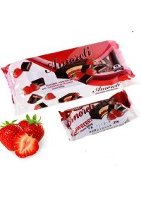 Mini Cake strawberry glazed 200g,15pcs./box