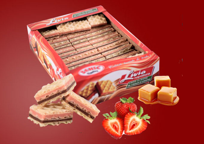 Livia Strawberries waffers